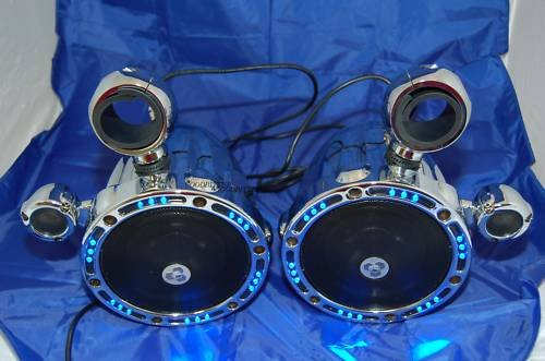 Fusion T6.5 Led Sk216Dlg 2 Way Wak Marine Tower Speaker Boat Diamond