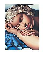 Artopweb Panel Decorativo De Lempicka la Dormiente 80x60 cm Bordo Nero