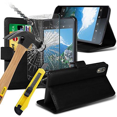 blackberry-dtek50-wallet-tasche-cover-mit-karte-halter-und-gehartetem-glas-displayschutzfolie-kohlef