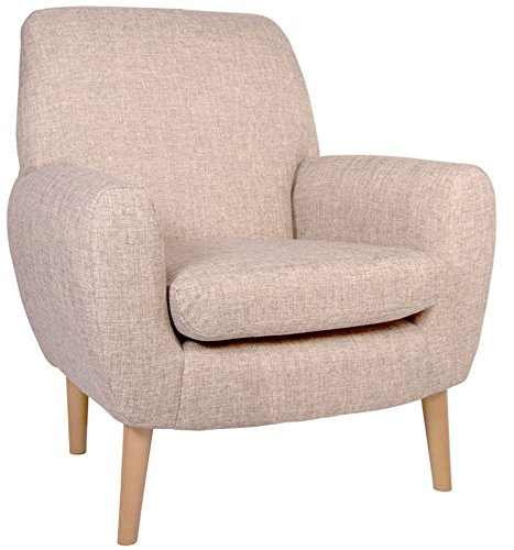 "Pisa Retro Style Orthopaedic Chair in Beige. Matching Sofa also available see separate listing. (17"" Seat Height Pisa chair)"
