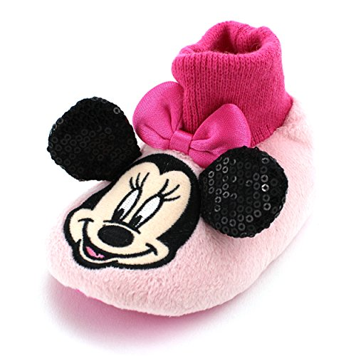 Minnie Mouse Baby Toddler Sock Top Slippers (M (3/4) M US Toddler)