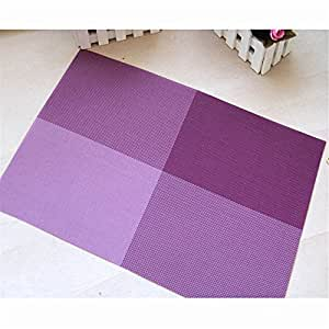 Durable Insulation Pvc Coffee Coaster Mat Placemats Plaid Pad Dining Table Desk