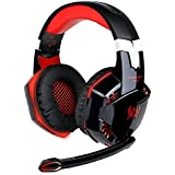 EasySMX G2000 Comfortable LED 3.5mm Stereo Gaming LED Lighting Over-Ear Headphone Headset Headband With Mic For...
