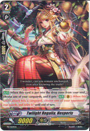 Cardfight!! Vanguard TCG - Twilight Regalia, Hesperis (PR/0129EN) - Cardfight! Vanguard Promos сумка vanguard pampas ii 15 pr