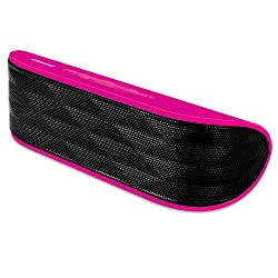 iSound Crescent Rechargeable Bluetooth Speaker with Microphone (pink)