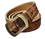 ベルト メンズ 牛革 ビジネスマン クラシック バックル2種類 銅+チタン合金 ハイクオリティ (120cm, 銅製)