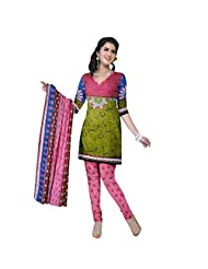 Siddhi Unstitched Cotton Printed Salwar Suit Dupatta Material ( AYSLW-100620141029AA )