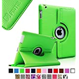 Fintie Apple iPad 2/3/4 Case - 360 Degree Rotating Stand Smart Case Cover for iPad with Retina Display (iPad 4th Generation), the new iPad 3 & iPad 2 (Automatic Wake/Sleep Feature), Green
