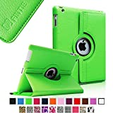 Fintie 360 Degree Rotating Stand Smart Cover PU Leather Case with Wake/Sleep Function for Apple iPad 4th Generation Retina Display /New iPad 3/iPad 2 - Green