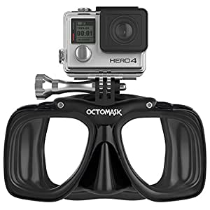 GoPro Hero4 and Hero3+ Dive Mask for Scuba and Snorkeling - Black
