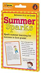 Summer Sparks Activity Cards, Between K and Grade 1