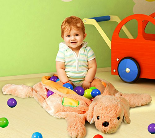 Plush-Puppy-Ball-Pit-for-Infants-Toddlers-Includes-50-Soft-Play-Pit-Balls