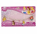 Princess Charm Bracelet with metal charms and jelly faceted beads