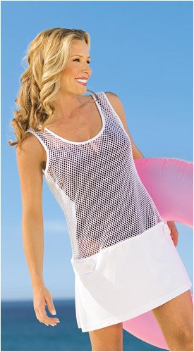 Buy Mesh Cover Up (Choose White, Black, Neon Orange)
