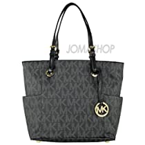 Hot Sale Michael Kors Mendium Jet Set Women's Handbag Style 30S11TTT4B Tote Purse Satchel Black