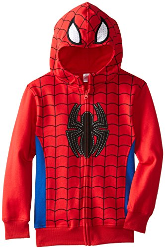 Marvel Little Boys' Spiderman Character Hoodie, Red, 5/6 front-498134
