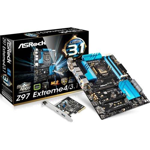 ASRock Z97 Extreme4/3.1 Type A×1+Type C×1の拡張付属 Z97チップセット搭載ATXマザーボード