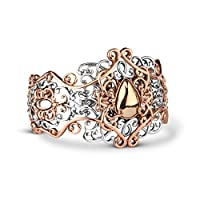 Relios Sterling Silver Mixed Metal Filigree Cuff from Relios