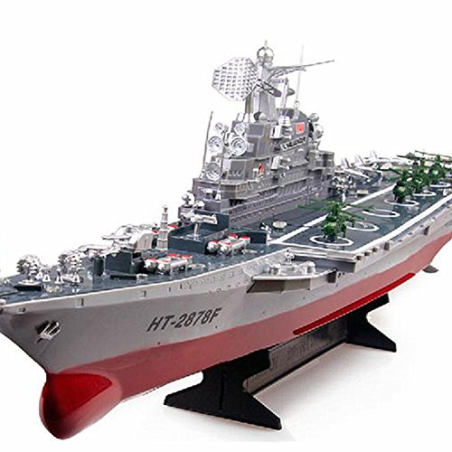 Time Sino Children Electric Toy Boat, Oversized Remote Control Boats, Speed Boats Ships Warships, Aircraft Carriers, Aircraft Carrier Model