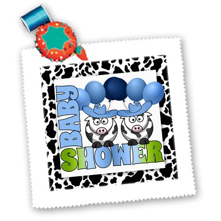 Qs_173035_4 Doreen Erhardt Baby Designs - Twins Blue Boys Baby Shower Cowboys Western Theme - Quilt Squares - 12X12 Inch Quilt Square front-237366