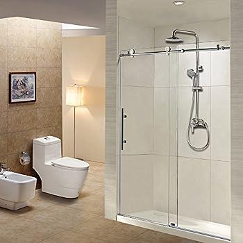 Woodbridge Frameless Sliding Shower Door, 56