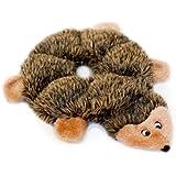 ZippyPaws Loopy 6-Squeaker Plush Dog Toy, Hedgehog