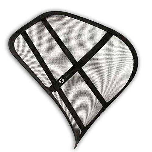 Zone Tech Mesh Hollow Car Auto Chair Seat - Premium Quality Black Hollow Car Auto Chair Seat Back Cushion Home Office Waist Lumbar Support (Home Solutions Back Seat Cover compare prices)