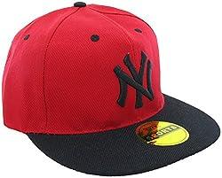 Masti Station Hip Hop Snapback NY Cap (Red and Black)