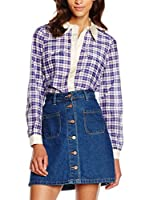 Marc by Marc Jacobs Blusa Abigail Plaid (Azul / Blanco)