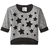 Beautees Little Girls' French Terry Top with Lace Stars