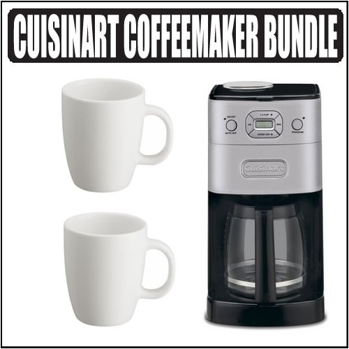 Cuisinart Coffee Maker Automatic Brew Instructions : Cuisinart DGB-625BC Grind-and-Brew 12-cup Automatic Coffeemaker Brushed Chrome w/ Bodum Coffee ...