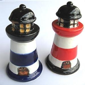 Salt Pepper Shaker Ceramic Lighthouse