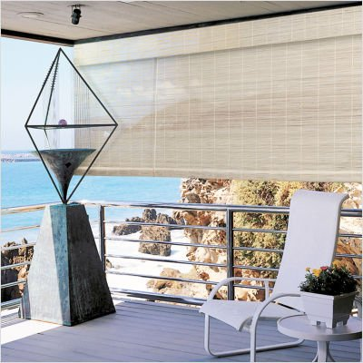 """Window Blind - Imperial Matchstick Bamboo Roll Up Blind with 6"""" Valance in Natural - 60"""" x 72"""" - 0108113"""