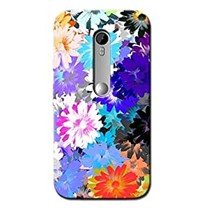 FLORAL ABSTRACT BACK COVER MOTOROLA MOTO G TORBO