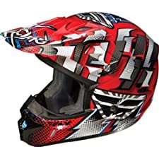 Fly Racing Kinetic Dash Youth Motocross Motorcycle Helmet - Red/White/Black / Medium
