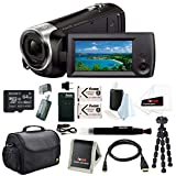 Sony HD Video Recording HDRCX405 HDR-CX405/B Handycam Camcorder (Black) + Sony 64GB SDXC Memory Card + Camera Bag + Two Replacement NP-BX1 Battery and One Charger + Accessory Bundle