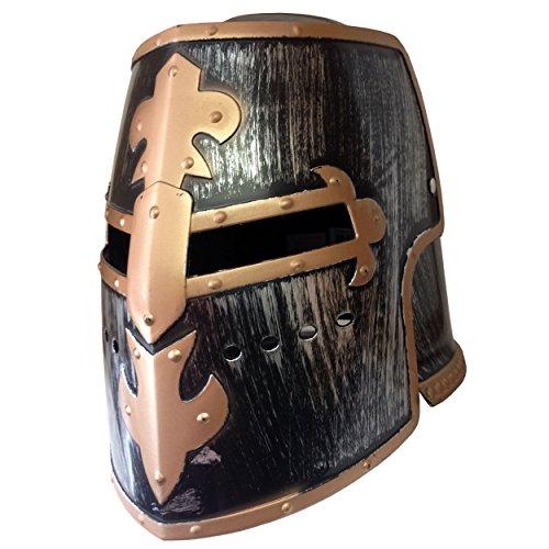 Men's Antiqued Pewter Knight Helmet