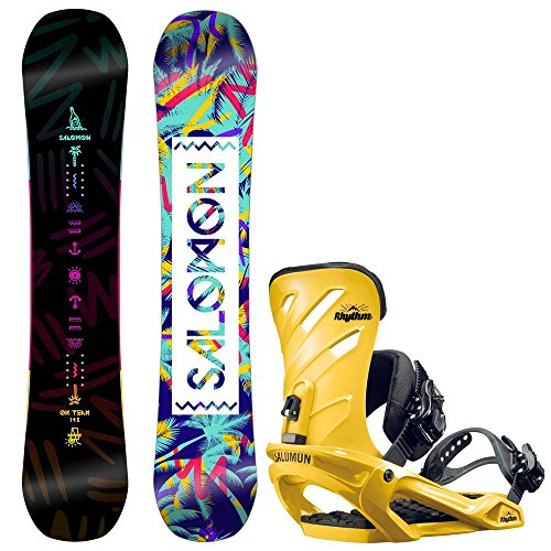 Damen Snowboard Set Salomon Oh Yeah 151 + Rhythm 2017 Snowboard Set