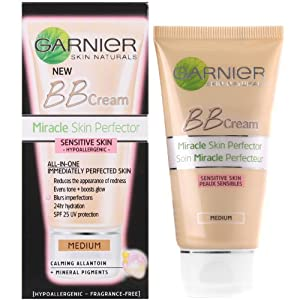 BB Cream Miracle Skin Perfector by Garnier Sensitive Medium SPF25 50ml
