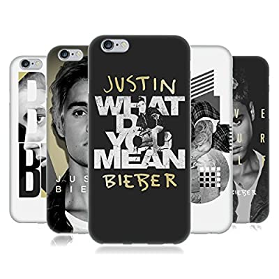 Official Justin Bieber Black And White Soft Gel Case for Apple iPhone Phones