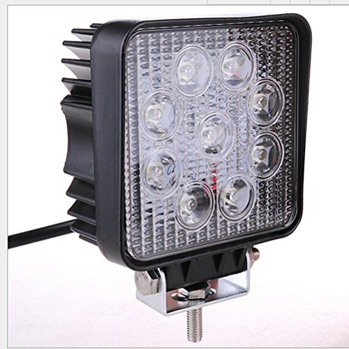Happy Hours® 27W 9 Led Square Spot Work Light Flood Offroad Camping Pencil Beam Lamp Camping Lamp Truck 4Wd Ute Atv Suv Bar 12V 24V Rd Pack Of 4