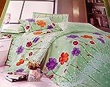 Square Metropolis Premium multicolour double bedsheet with 2 pillow covers