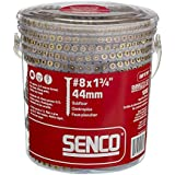 Senco 08F175Y Duraspin Number 8 by 1-3/4-Inch Flooring to Wood Collated Screw (1,000 per Box)
