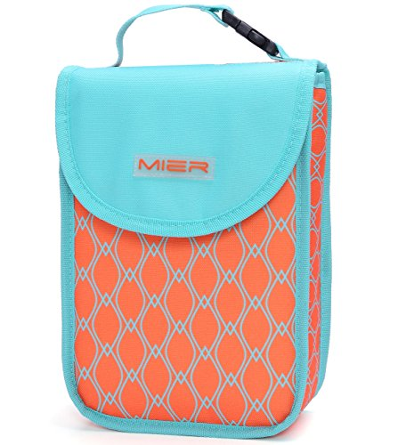 MIER 4can Kids Lunch Box Bag Freezable Cooler Bag for Child Food, Bottle, Snacks (Freezable Baby Food compare prices)