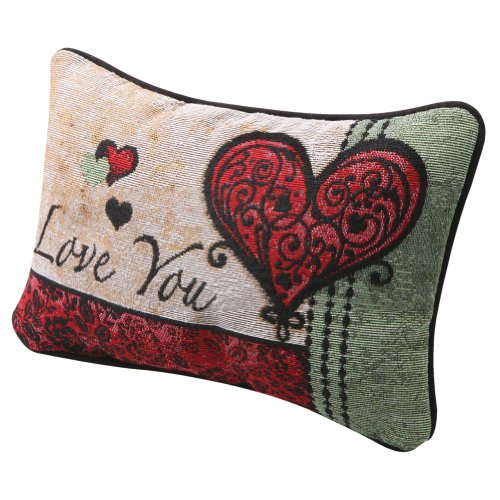 Exclusive I Love You I Love You More Woven Tapestry Reversible Accent Pillow