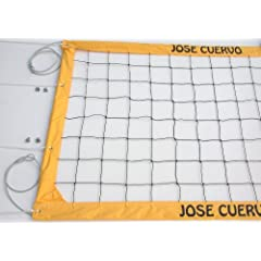 Jose Cuervo Tequila Volleyball Net, Aircraft Cable Top and Bottom - JCCNC by Home Court