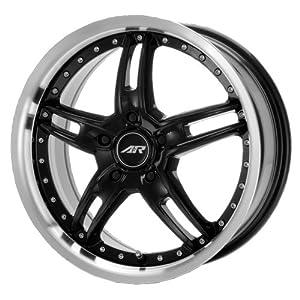 "American Racing Santa Cruz AR371 Gloss Black Wheel with Machined Lip (17x7.5""/4x100mm)"