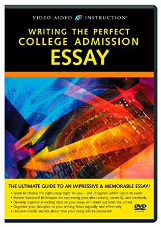 Writing college admission essay video