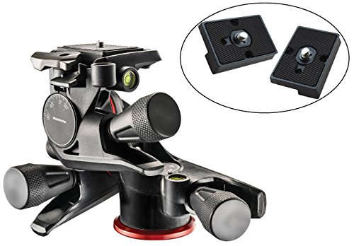 Manfrotto MHXPRO-3WG XPRO Geared Head with Two Calumet Quick Release Plates for the RC2 Rapid Connect Adapter (Manfrotto Knob compare prices)