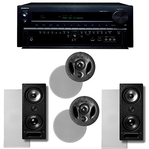 Onkyo Tx-Nr838 7.2 Channel Network A/V Receiver Plus A Polk Audio Vanishing Series In-Wall / In-Ceiling Speaker Package (900-Ls & 265-Ls)